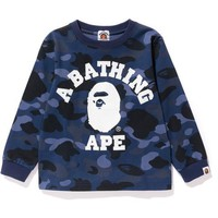COLOR CAMO COLLEGE L/S TEE KIDS