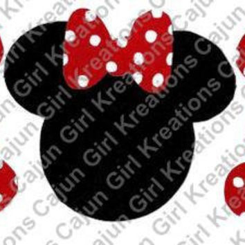 Red Polka Dot Mom Minnie Mouse Printable Digital Iron On Transfer Clip Art DIY Tshirts Instant Download
