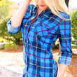 Flannel Obsession Top - Navy