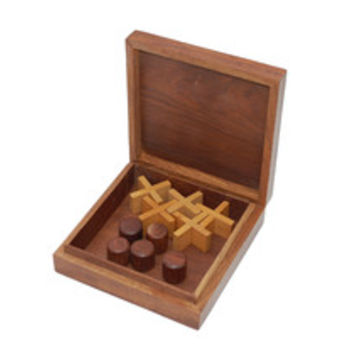 Wooden Tic Tac Toe Game - Noughts and Crosses - Family Boardgames by SouvNear