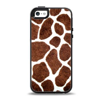 The Real Giraffe Animal Print Apple iPhone 5-5s Otterbox Symmetry Case Skin Set