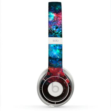 The Neon Colored Paint Universe Skin for the Beats by Dre Solo 2 Headphones