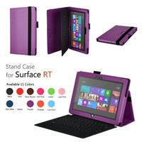 Elsse (TM) Premium Folio Case with Stand for Microsoft Surface RT / Surface 2 (Does not fit Surface Pro Version / Keyboard and Tablet NOT included) (Surface 2 / Surface RT, Purple)