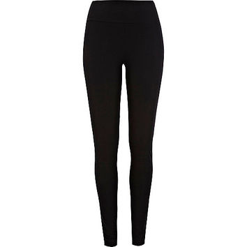 River Island Womens Black jersey high waisted extra long leggings