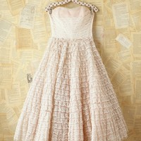 Free People Vintage Pink Tiered Lace Dress