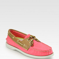 Canvas & Leather Boat Shoes - Zoom - Saks Fifth Avenue Mobile