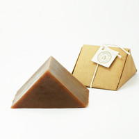 Dark Currant Triangle Soap - Triangular Shaped Soap - Phthalate Free Colorant Free Gluten Free Cold Processed Soap