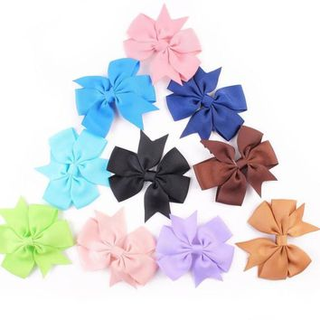 Bow Hair Clip 10pcs Kawaii Accesorios For Girls Candy Color Girls Hair Accessories Acessorios Para Cabelo#A11