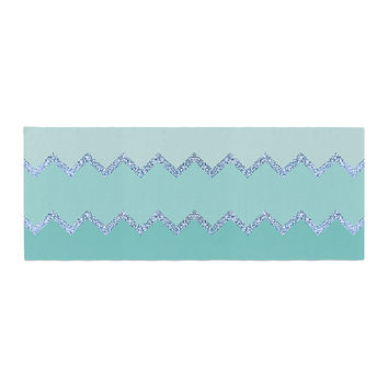 "Monika Strigel ""Avalon Mint Ombre"" Aqua Green Bed Runner"