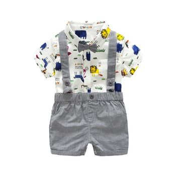 Gentleman Bow Tie Romper+Shorts For Baby Boy