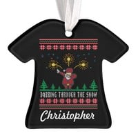 Dabbing Through The Snow Ugly Christmas Sweater Ornament