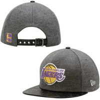 Los Angeles Lakers New Era Hardwood Classics Step Up 9FIFTY Adjustable Hat – Charcoal