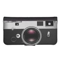 Funny Vintage Camera Look iPhone 5/5S Wallet Case