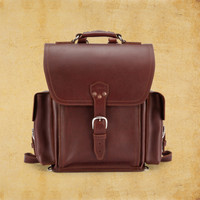Squared Backpack | Leather Backpacks | Saddleback Leather Co.