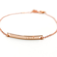 Rose Gold Name Bracelet