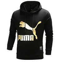 PUMA Women Men Lover Casual Print Long Sleeve Hoodie Top Hooded Sweater Pullover