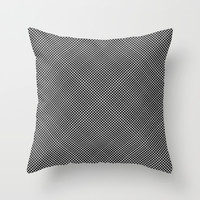 plaid hypnosis Throw Pillow by RichCaspian
