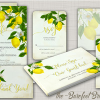 Floral Wedding Invitations – The Barefoot Bride™