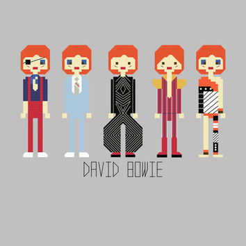 David Bowie Cross Stitch Pattern