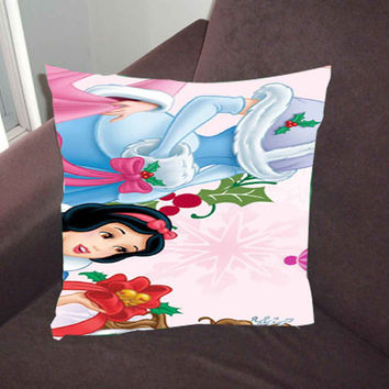 disney princesses christmas - Pillow Case, Pillow Cover, Custom Pillow Case *02*
