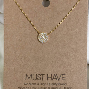 Must Have Pave Circle Necklace