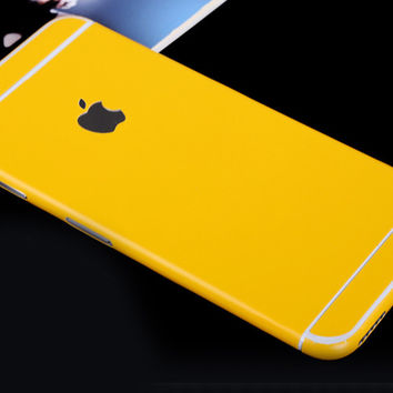 Yellow Pure Decal Wrap Skin Set iPhone 6s 6 / iPhone 6s 6 Plus