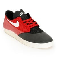 Black, Ivory, & Gym Red Skate Shoes