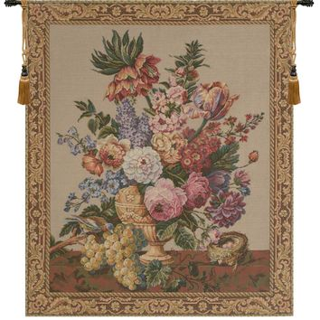 Brussels Bouquet Creme European Tapestry