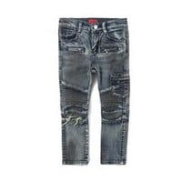 Clayton Cargo Biker Denim (Oil Wash Indigo) – Haus of JR