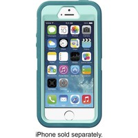 OtterBox - Defender Series Case and Holster for Apple® iPhone® 5 and 5s - Aqua Blue/Mineral Blue