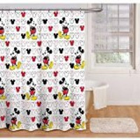 Disney Mickey Mouse Fabric Shower Curtain
