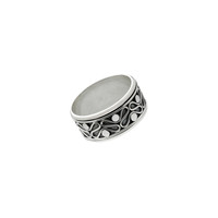 Epsilon Infinity Sterling Silver Spinner Ring