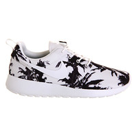 Nike Roshe Run White Black Palm Print Exclusive - Unisex Sports