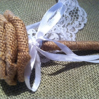 Shabby Chic Rustic Burlap Guestbook Pen