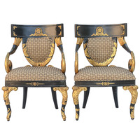 Pair of Versace Home Collection Armchairs