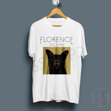 FLORENCE and THE MACHINE DELILAH Indie Rock Band Tour White T Shirt Size S to XL