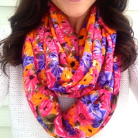 Bright Lights Floral Infinity Scarf