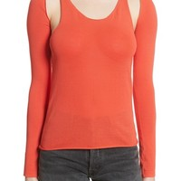 Helmut Lang Re-Edition Ribbed Tank Top with Long Sleeves | Nordstrom