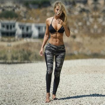 Camouflage High Waist Fitness Leggings