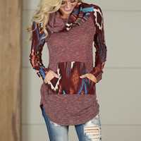Faraway Places Cowl Neck Top