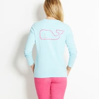 Long-Sleeved Vintage Whale Pocket Tee