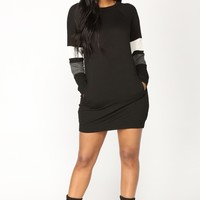 Do Your Thing Oversized Tunic - Black