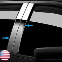 Made in USA! Fit 2004-2014 Lincoln Mark LT/Ford F150 4PC Stainless Steel Chrome Pillar Post