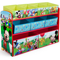 Disney Mickey Mouse Deluxe 9 Bin Toy Organizer
