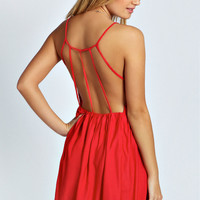 Cara Strappy Detail Swing Dress
