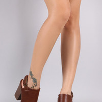 Delicious Sling Back Mule Chunky Heel