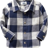 Old Navy Buffalo Plaid Shirts For Baby