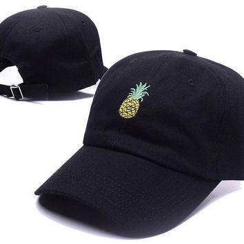 Pineapple Hat Embroidery Baseball Cap Funny Fresh Fruit Hipster Hat FruitPineapple Dad Hat Hip Hop Cotton Snapback Cap