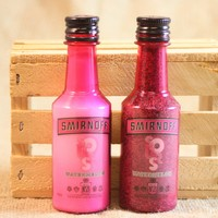 Salt & Pepper Shaker from Upcycled Smirnoff Sour Watermelon Mini Liquor Bottles
