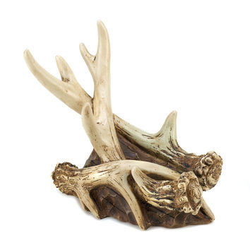 Beautiful Faux Rustic Antler Wine Bottle Holder